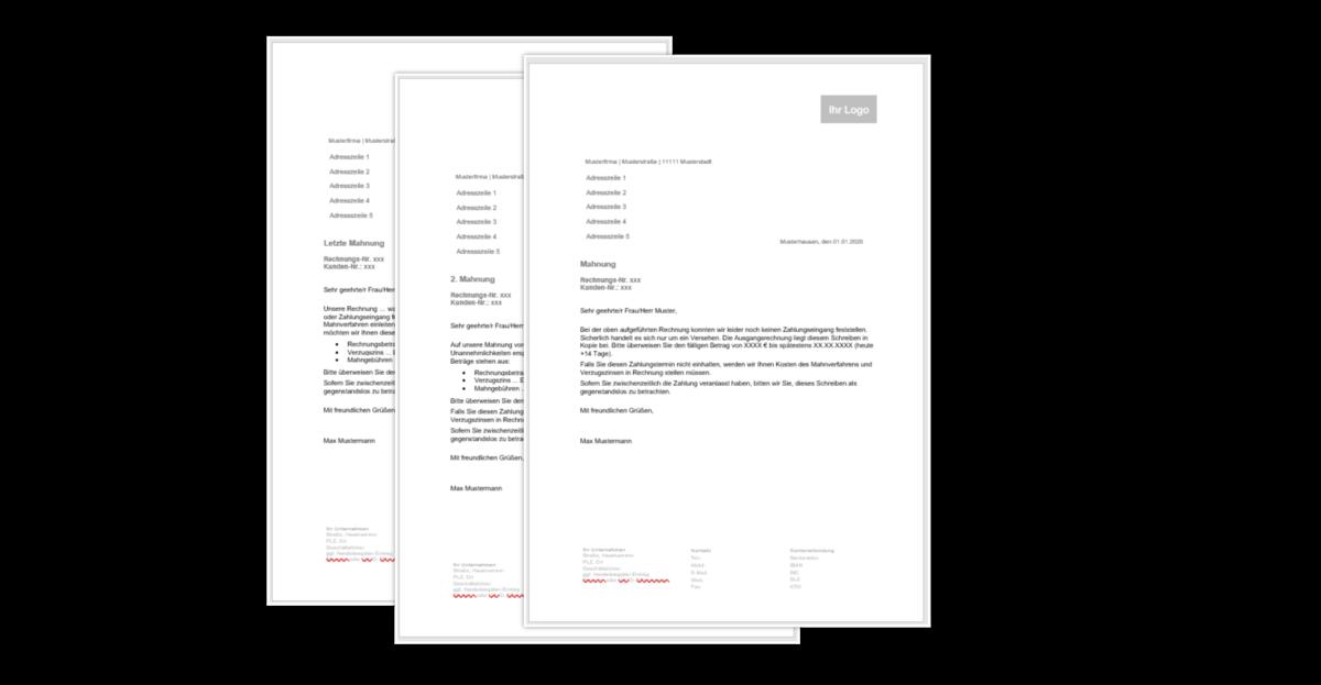Kostenlose Mahnungsvorlage Zum Download Von Lexoffice 4