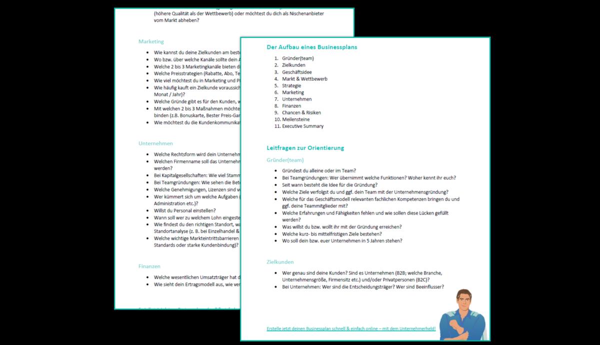 Businessplan Vorlage Muster Beispiele Kostenfrei 5