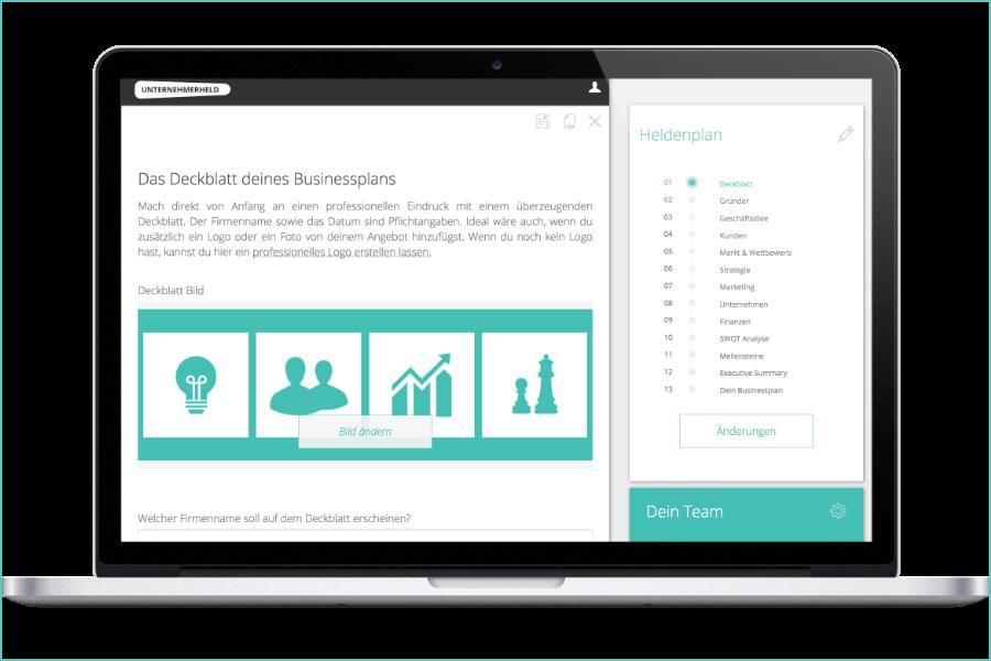 Businessplan-Software: Unternehmerheld